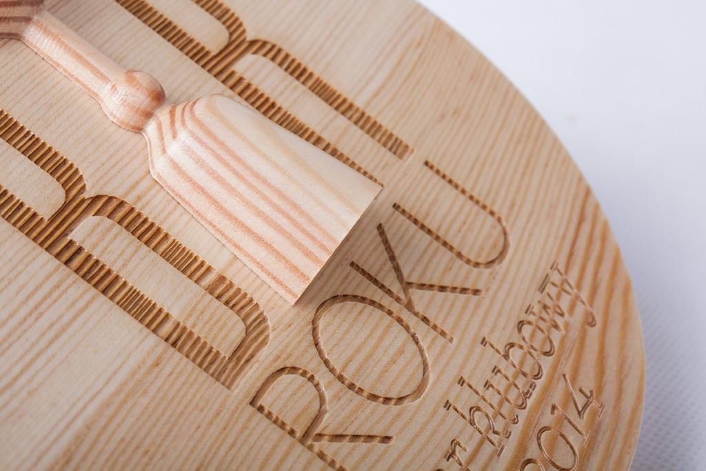 Półkule drewniane toczone w drewnie - HELLUX