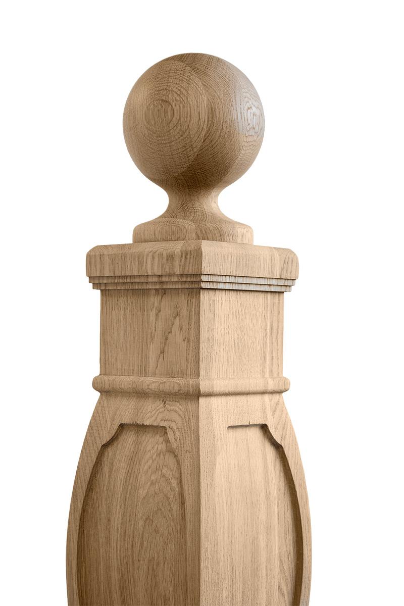 Słupki toczone z drewna litego - HELLUX
