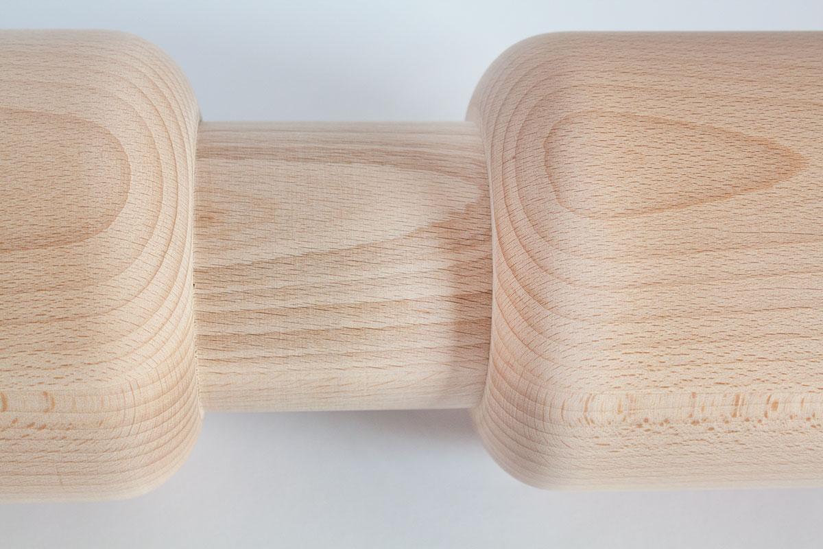 Wałki toczone drewniane  z grawerem - HELLUX
